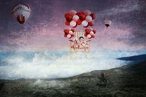Katze, Ballon, Schaukel, Heißluftballon