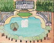 Naive malerei, Schloss benrath, Figural, Malerei