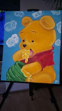 Ölmalerei, Winnie poh, Malerei,