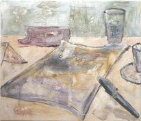 Malerei, Grün, Glas, Zeichnung