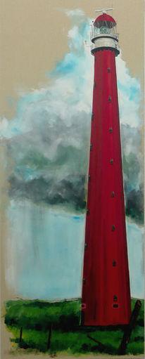 Malerei, Wolken, Landschaft, Regen