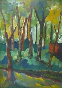 Malerei, Pflanzen, Landschaft, Braun