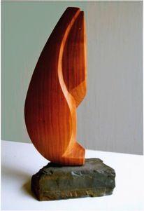 Skulptur, Holz, Kirsche, Tiere