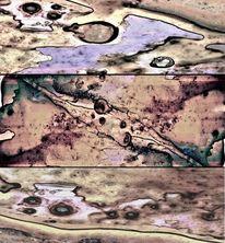 Mars, Vulkan, Oberfläche, Flussbett
