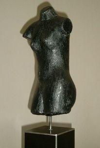 Weiblich, Anthrazit, Figur, Metall
