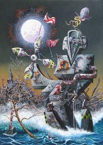 Umwelt, Klima, Dystopisch, Malerei