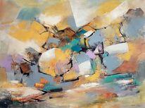 Gemälde abstrakt, Blau, Moderne malerei, Acrylmalerei
