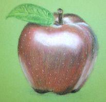 Zeichnung, Apfel, Pastellmalerei, Zeichnungen
