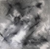 Hell, Acrylmalerei, Dunkel, Schwarz weiß