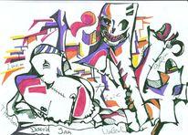 Wahnsinn, Traum, Skurril, Malerei
