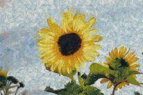 Gemälde, Digital, Malerei, Blüte