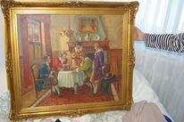 Schach, Ölmalerei, Wert, Malen