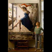 Statue, Rot, Kleid, Realismus
