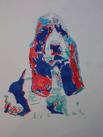 Hund, Abstrakt, Marker, Pop art