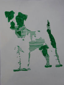 Jack russel, Terrier, Hund, Pop art