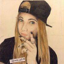 Portrait, Zeichnung, Menschen, Augen