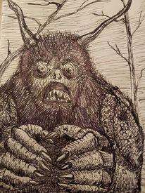 Wald, Wut, Zeichenfeder, Zorn