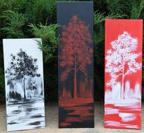 Baum, Weiß, Schwarz, Rot