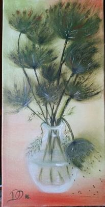 Ölmalerei, Pflanzen, Grün, Malerei