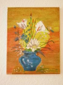 Vase, Pflanzen, Blumen, Malerei