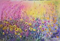 Frühlingsgefühle, Blumen, Sonnenblumen, Blumenwiese