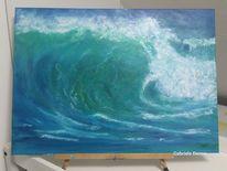 Surfen, Gemälde, Brandung, Landschaft