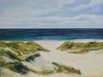 Meer, Landschaft, Impressionismus, Strand