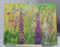 Malerei, Blumenwiese, Blumen,