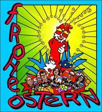 Ostern, Ei, Politik, Digitale kunst