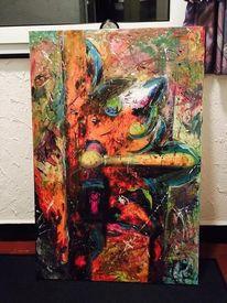 Mischtechnik, Acrylmalerei, Surreal, Malerei