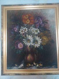 Bunt, Stillleben, Blumen, Malerei