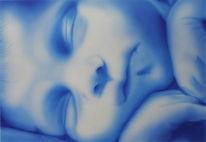 Portrait, Airbrush, Baby, Malerei