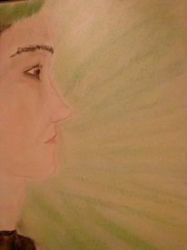 Portrait, Farben, Mann, Malerei