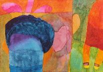 Licht, Farben, Formen, Aquarell