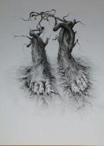Verschlingen, Fuß, Schwarz weiß, Verbindung