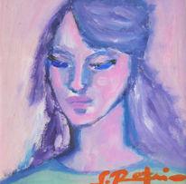Portrait, Frau, Acrylmalerei, Modernes gemälde