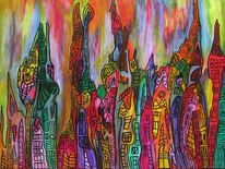 Abstrakt, Moderne kunst, Malerei, Acrylmalerei