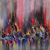 Acrylmalerei, Abstrakt, Modern, Moderne kunst