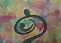 Liebe, Kind, Geborgenheit, Aquarell