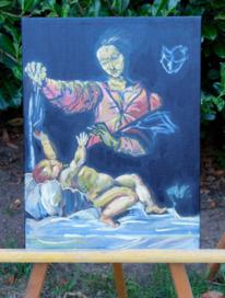 Baby, Farben, Malerei, Madonna