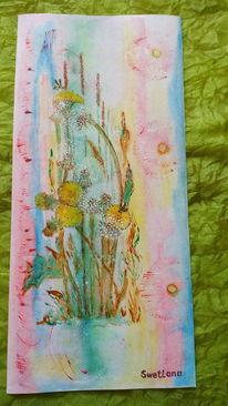 Abstrakt, Aquarellmalerei, Lövenzahn, Aquarell