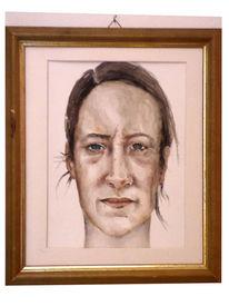 Portrait, Frau, Kopf, Gesicht
