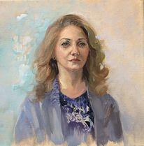 Portrait, Gesicht, Malerei, Frau