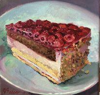 Torte, Kuchen, Stillleben, Himbeere