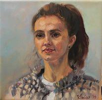 Portrait, Mädchen, Menschen, Malerei