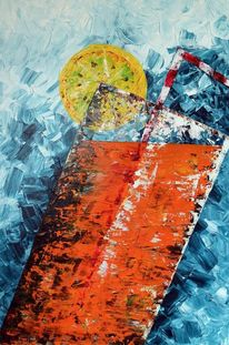 Glas, Acrylmalerei, Getränk, Stillleben