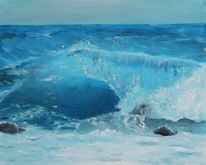 Meer, Sturm, Welle, Malerei