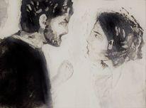 Gefühl, Gegenwartskunst, Radierung, Figurative druckgrafik