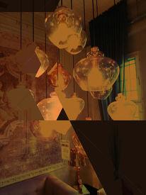 Lampe, Braun, Glas, Bschoeni
