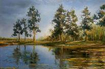 Natur, Malerei, Landschaft, Wasser